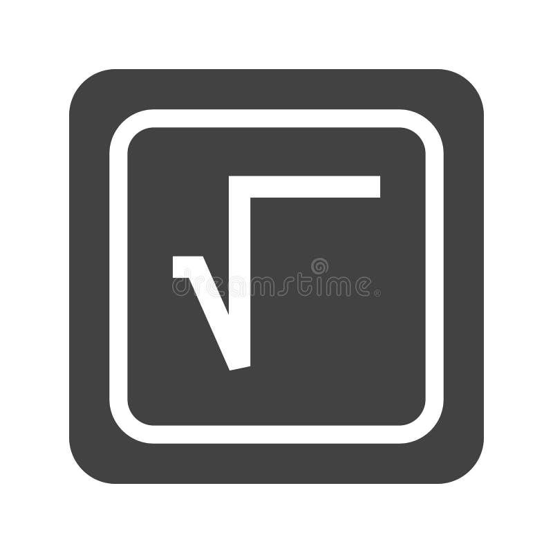 Fyrkantigt rota symbolet royaltyfri illustrationer