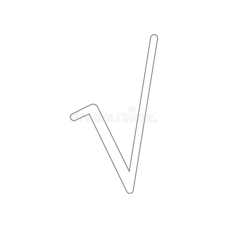 Fyrkantigt rota symbolsymbolen Best?ndsdel av reng?ringsduken f?r mobilt begrepp och reng?ringsdukappssymbol ?versikt tunn linje  stock illustrationer