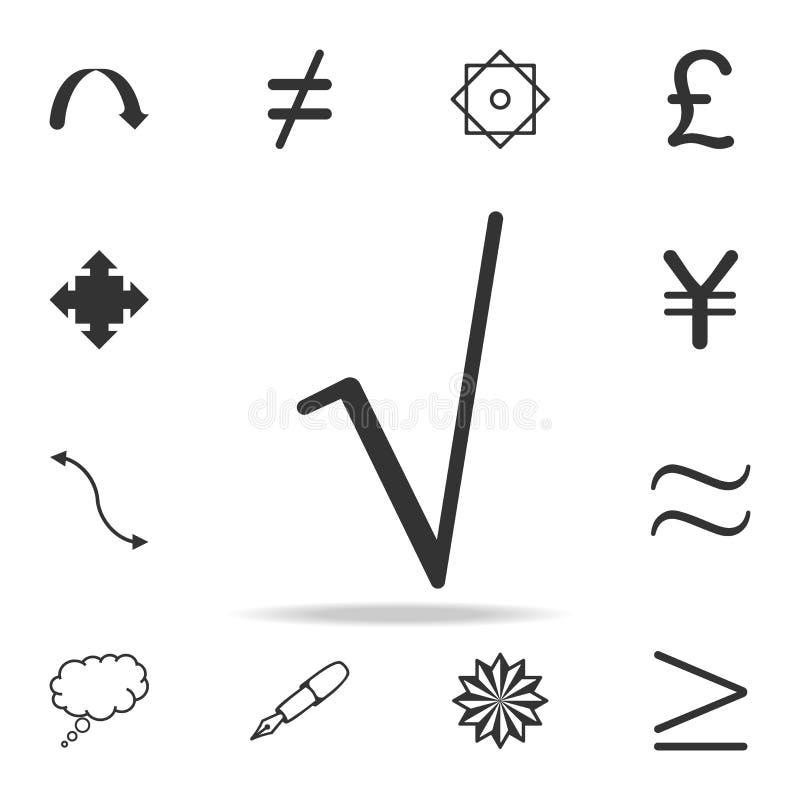 Fyrkantigt rota symbolsymbolen Detaljerad uppsättning av rengöringsduksymboler och tecken Högvärdig grafisk design En av samlings vektor illustrationer