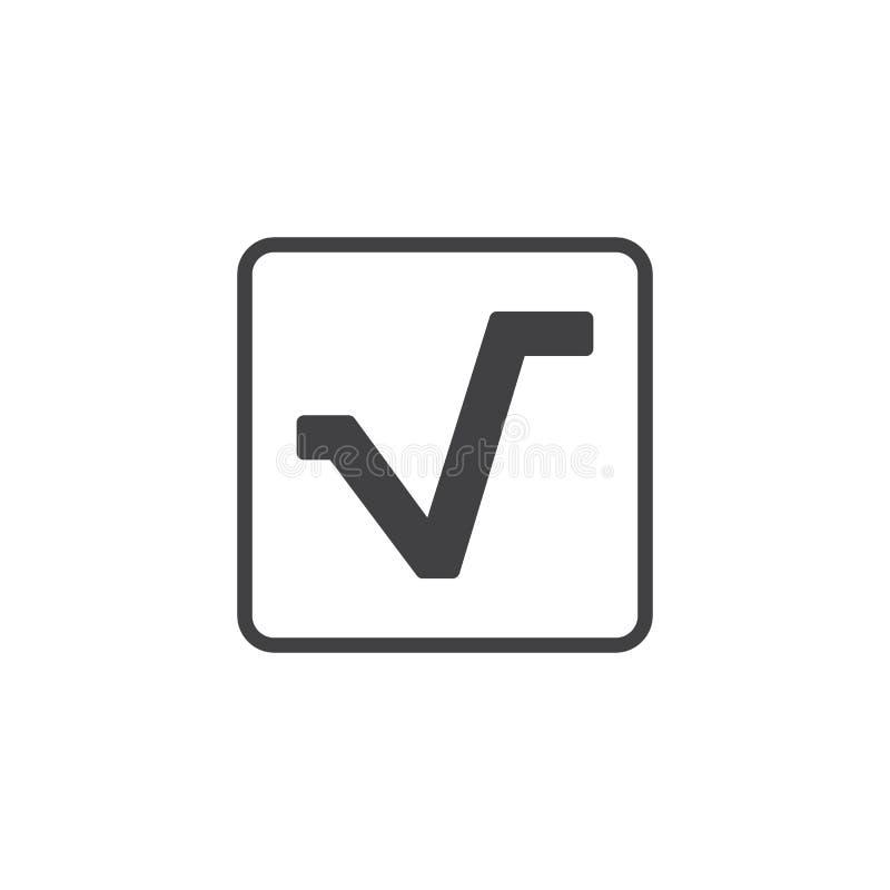 Fyrkantigt rota vektorsymbolen royaltyfri illustrationer