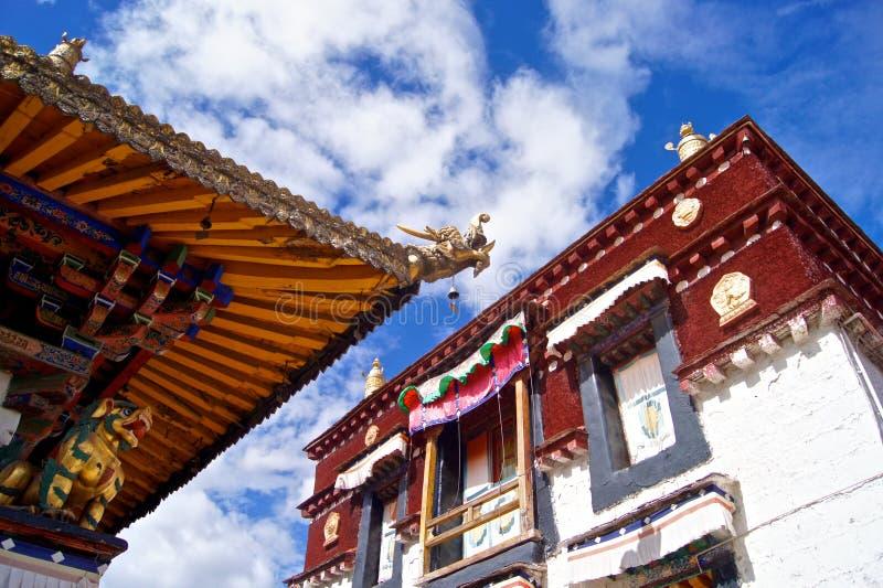 fyrkantigt tempel för jokhang royaltyfria bilder