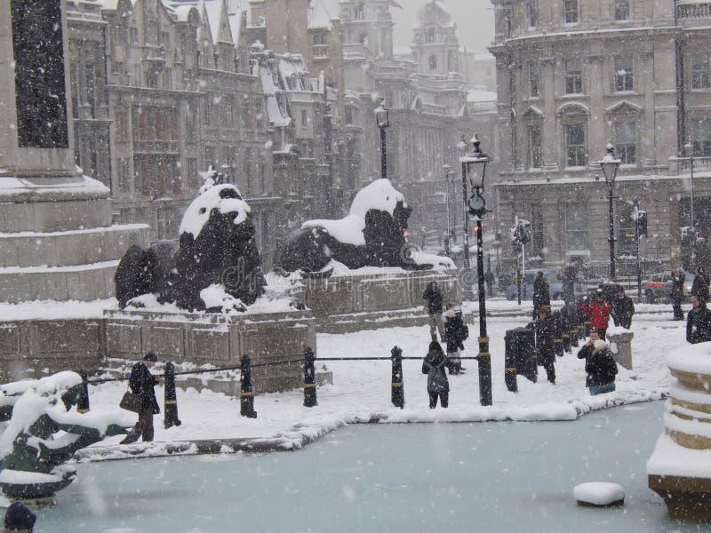 fyrkantigt trafalgar för snow ii royaltyfria foton