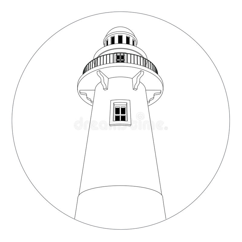 fyrlogo vektor illustrationer