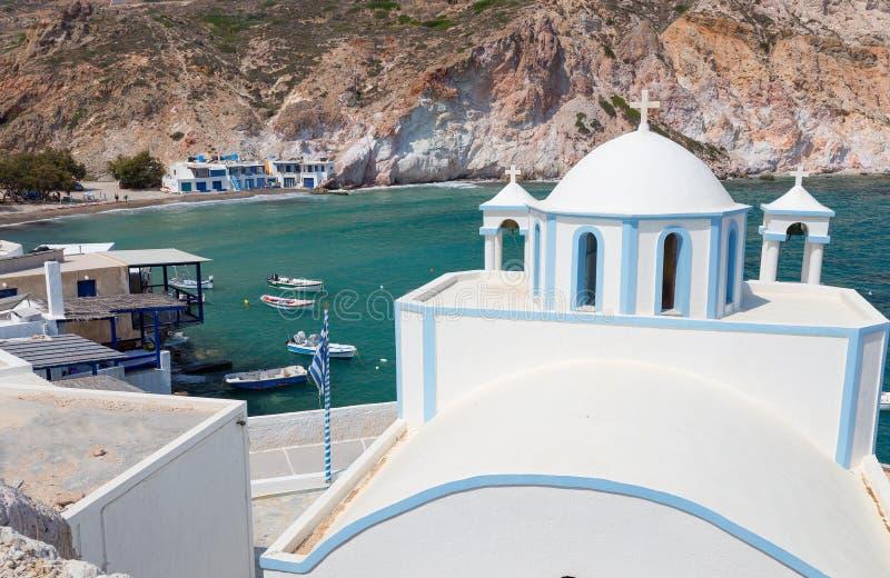 Fyropotamos, Milos остров, Киклады, Греция стоковые фотографии rf