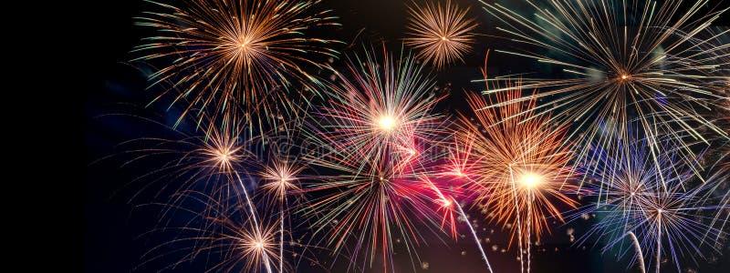 Fyrverkeri Celabration festligt för nytt år arkivbild