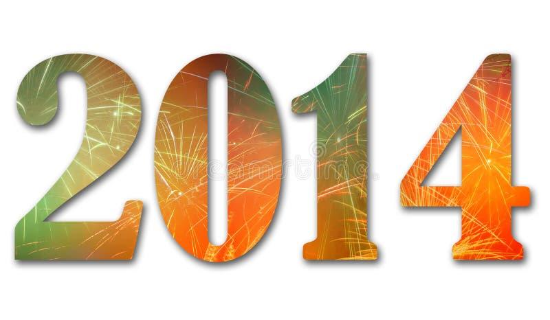 2014 fyrverkerier vektor illustrationer