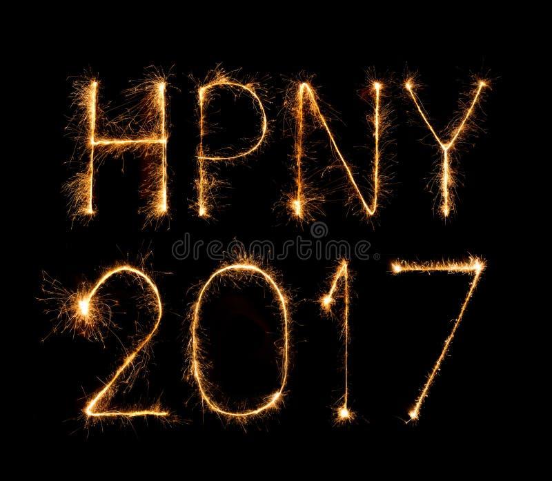 2017 fyrverkeritomtebloss för lyckligt nytt år royaltyfri fotografi