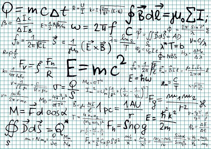 Fysica stock illustratie