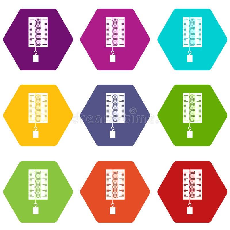 Download Fysicadynamometer Voor Het Pictogram Vastgestelde Kleur Van Het Laboratoriumwerk Hexahedron Vector Illustratie - Illustratie bestaande uit cijfer, dynamo: 107708394