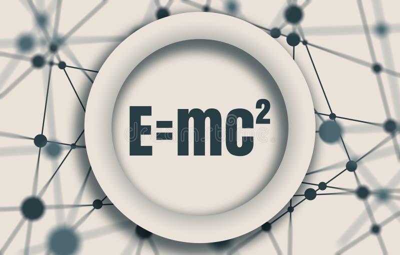 Fysieke formule van massa en energiegelijkwaardigheid stock illustratie