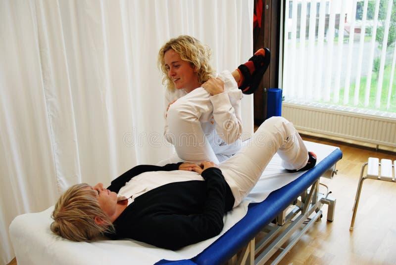 Fysieke therapie stock foto