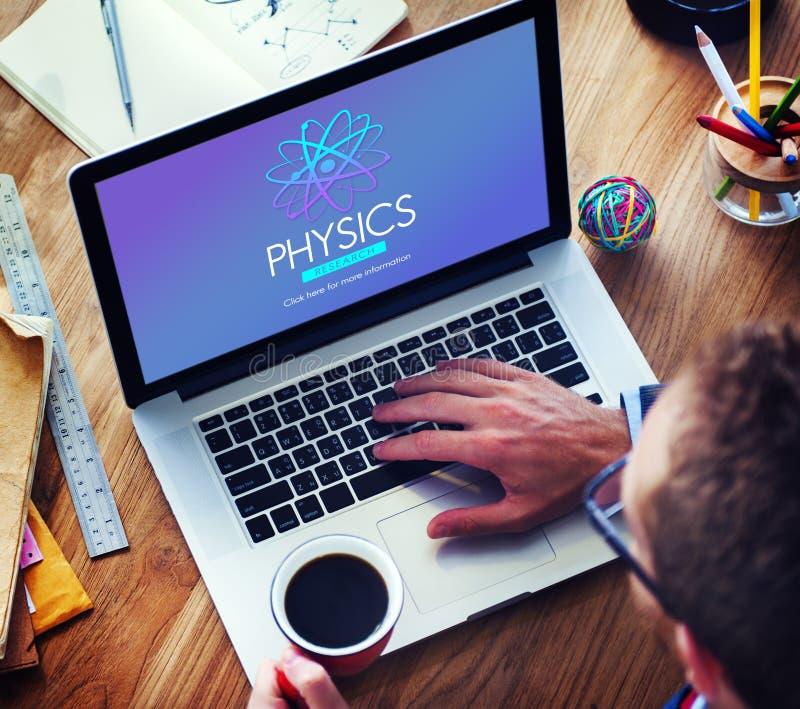 Fysikstudievetenskap Atom Energy Concept fotografering för bildbyråer