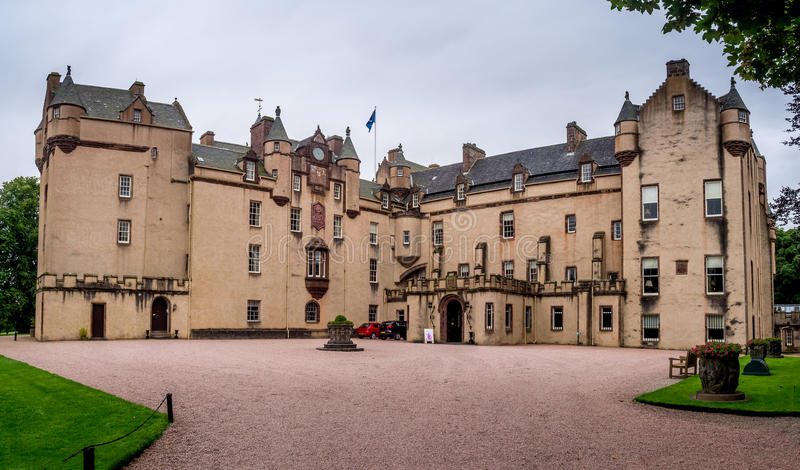 Fyvie Castle in Scotland. The castle is said to be the finest baronial castle in Scotland. The castle has five great towers named after her owners of last 500 stock photos