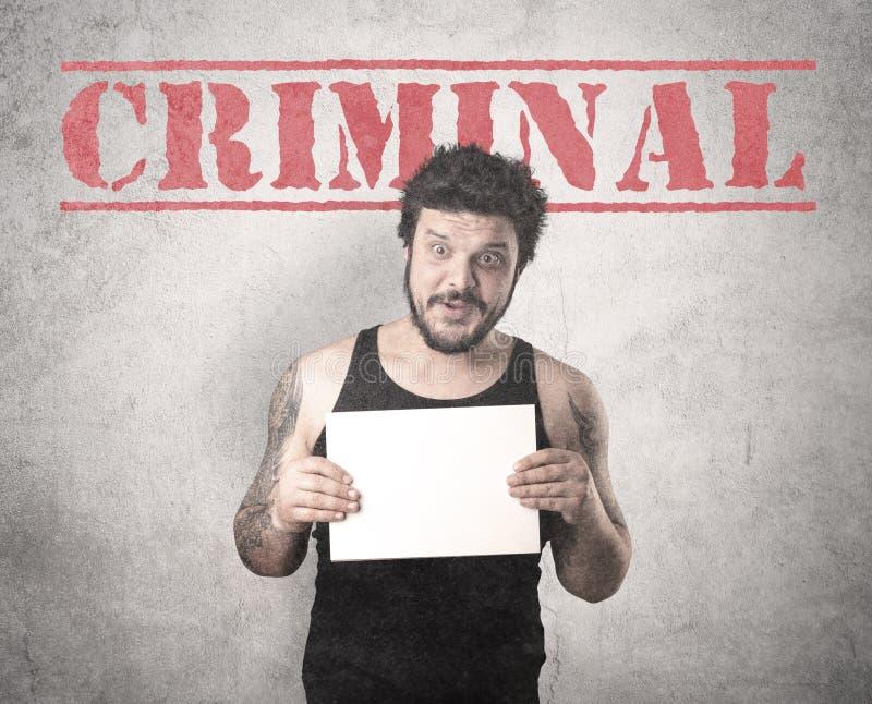 Gángster cogido en cárcel imagen de archivo