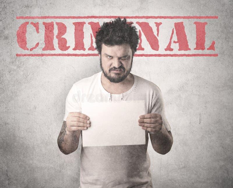 Gángster cogido en cárcel imagen de archivo libre de regalías
