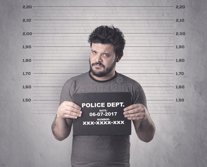 Gángster cogido en cárcel fotos de archivo libres de regalías