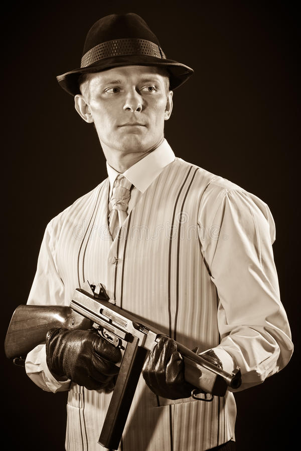 Gángster de Chicago imágenes de archivo libres de regalías