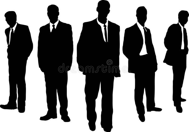 Gángster de los hombres de negocios ilustración del vector
