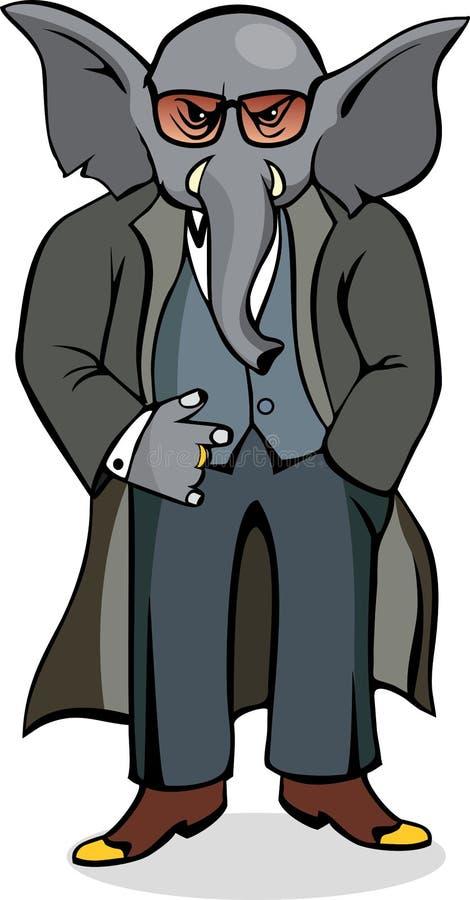 Gángster del elefante imagen de archivo libre de regalías