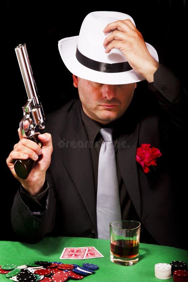 Gángster negro del juego imagenes de archivo