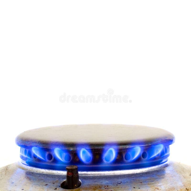 Gás ardente do forno da cozinha imagem de stock royalty free