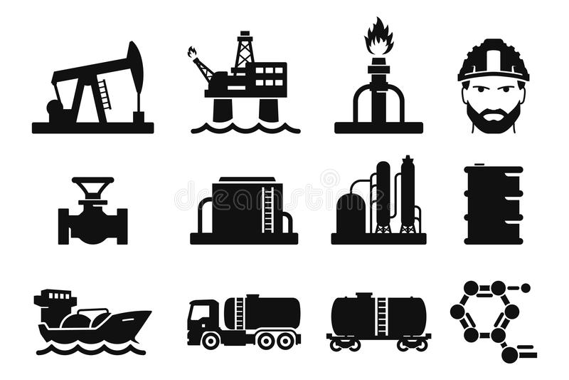 Gás e óleo ilustração stock