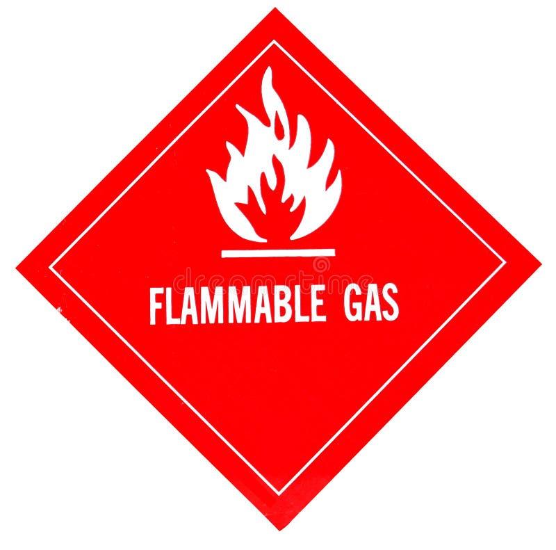 Gás inflamável ilustração stock