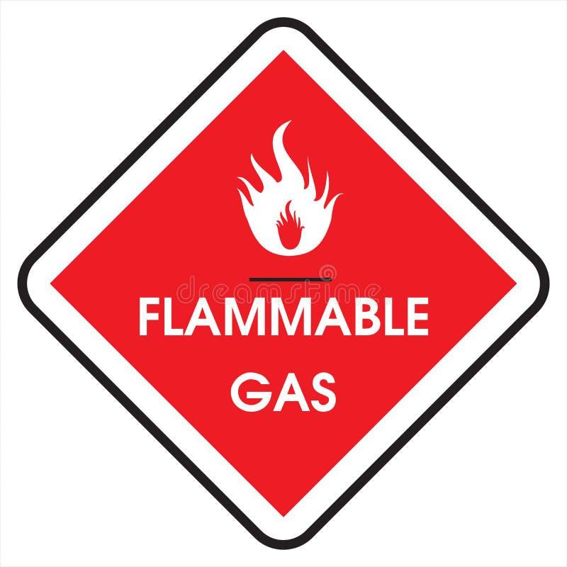 Gás inflamável do sinal imagens de stock royalty free