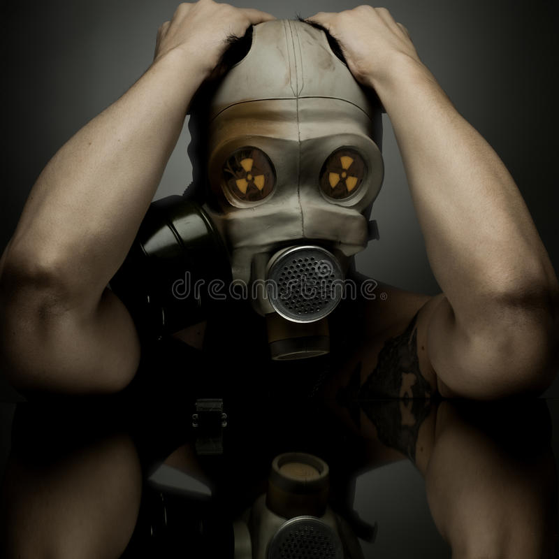 Gás-máscara imagem de stock