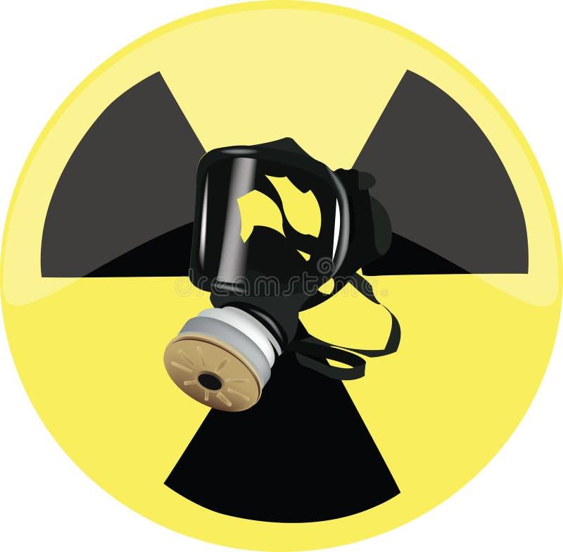Gás mask ilustração stock
