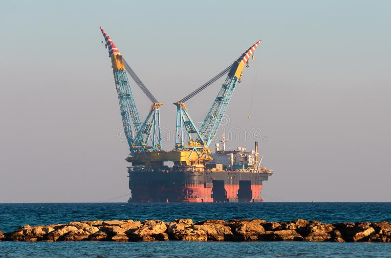 Gás & plataforma petrolífera foto de stock