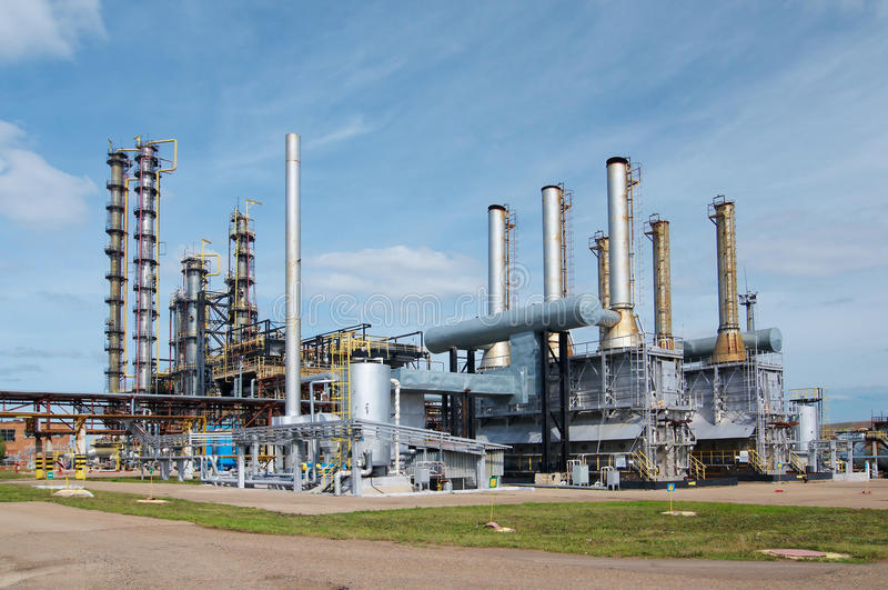 Gás-processando a indústria imagens de stock