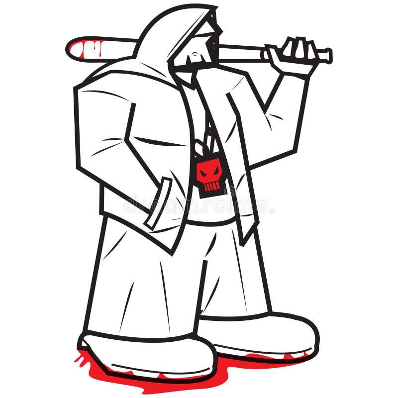 Gângster ilustração do vetor