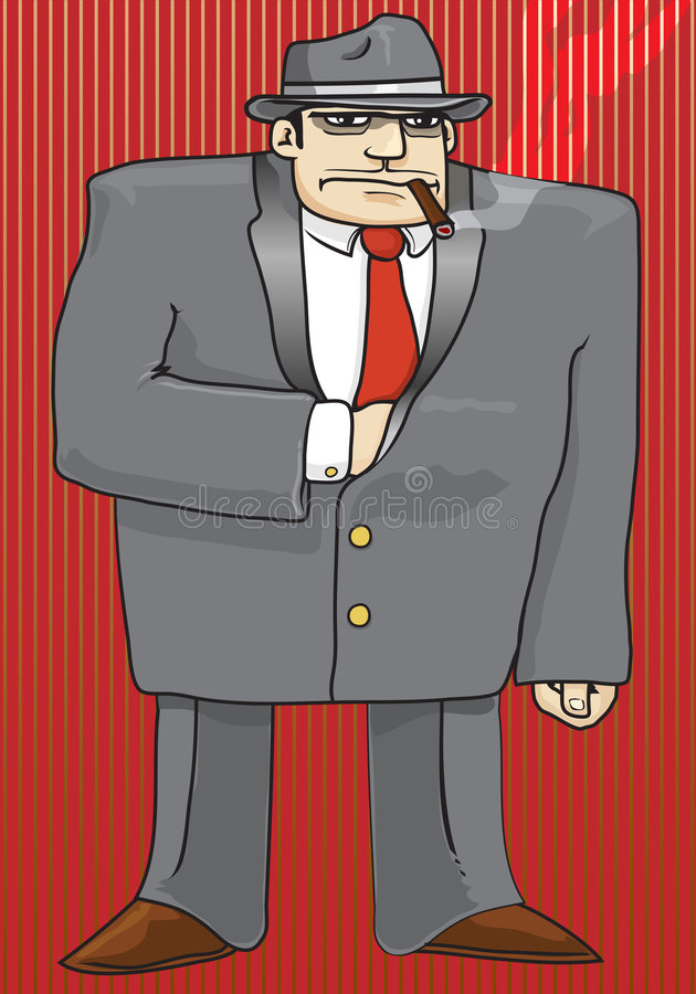 Gângster ilustração stock