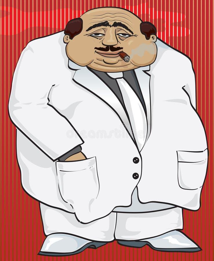Gângster Bossy ilustração do vetor