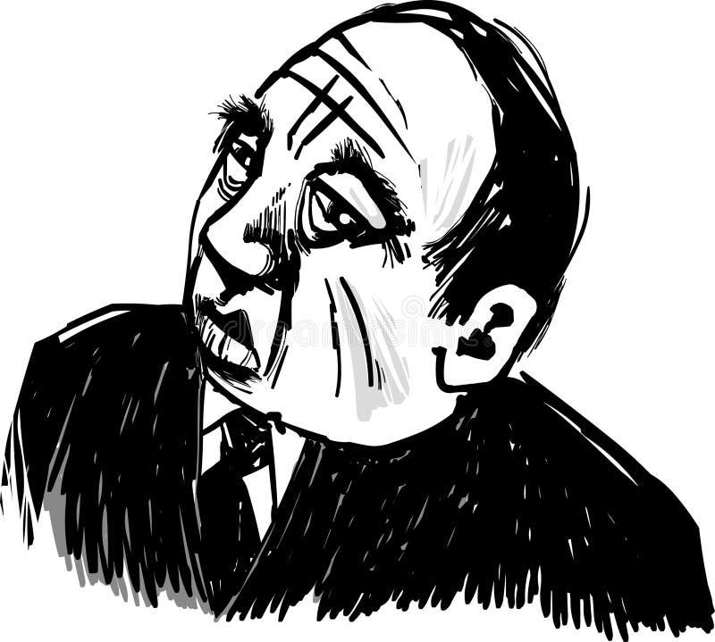 Gângster idoso ilustração stock