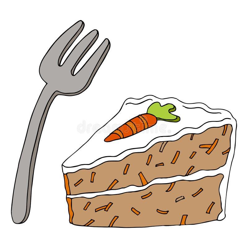 Gâteau à la carotte illustration libre de droits