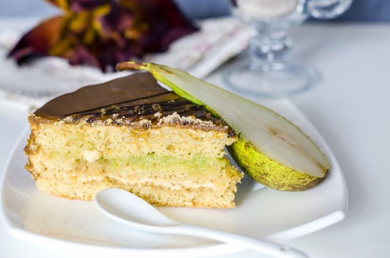 Gâteau assaisonné par poire photo libre de droits