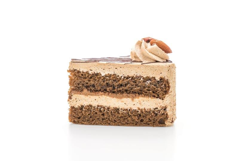 Gâteau au café sur le fond blanc photo libre de droits