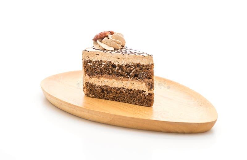 Gâteau au café sur le fond blanc photos libres de droits