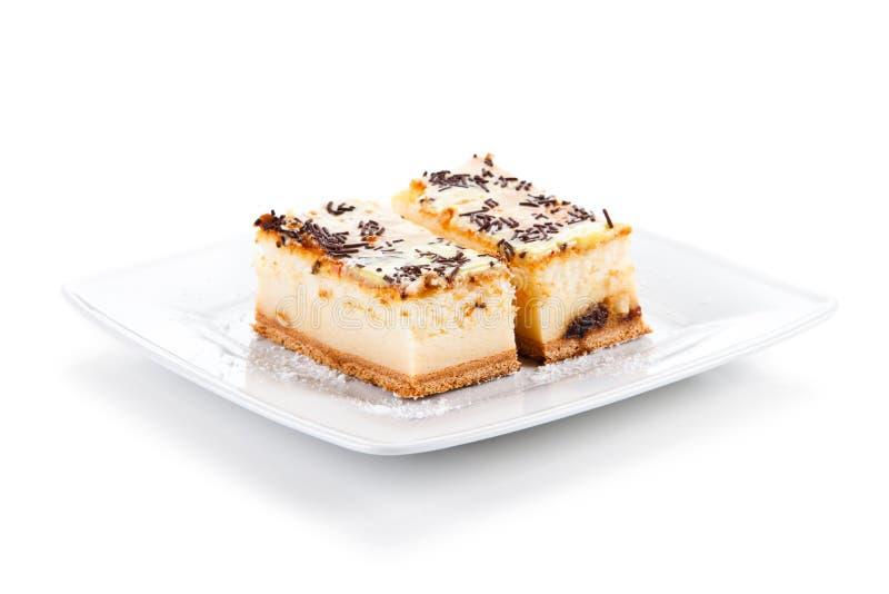 Gâteau au fromage avec le gourmet du chocolat photographie stock