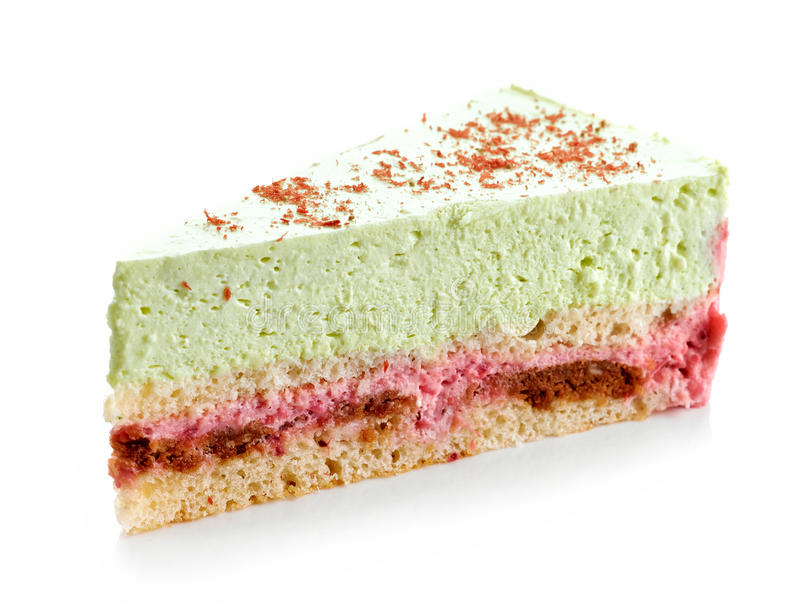 Gâteau au fromage de Basil et de fraise photos libres de droits