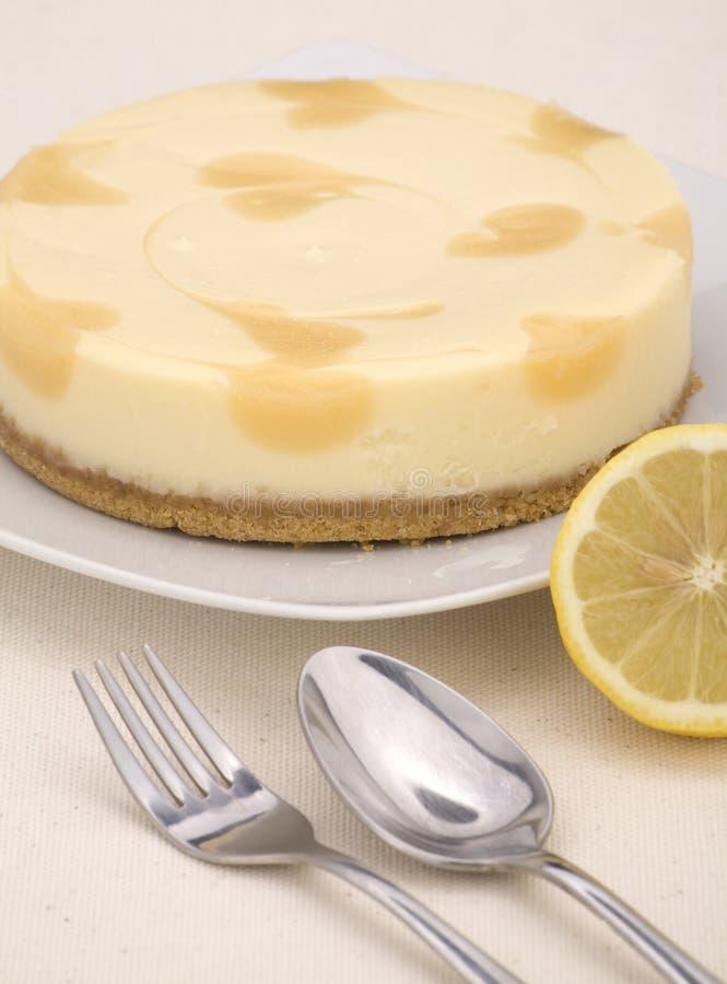 Gâteau au fromage de citron photographie stock libre de droits