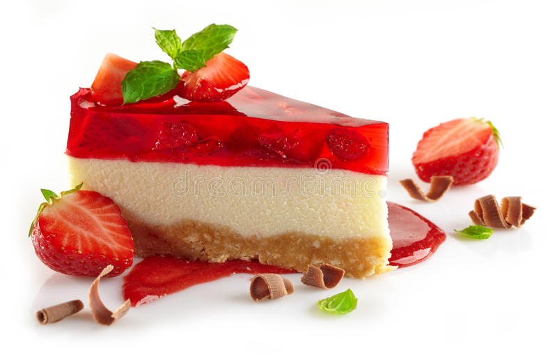 Gâteau au fromage de fraise images libres de droits