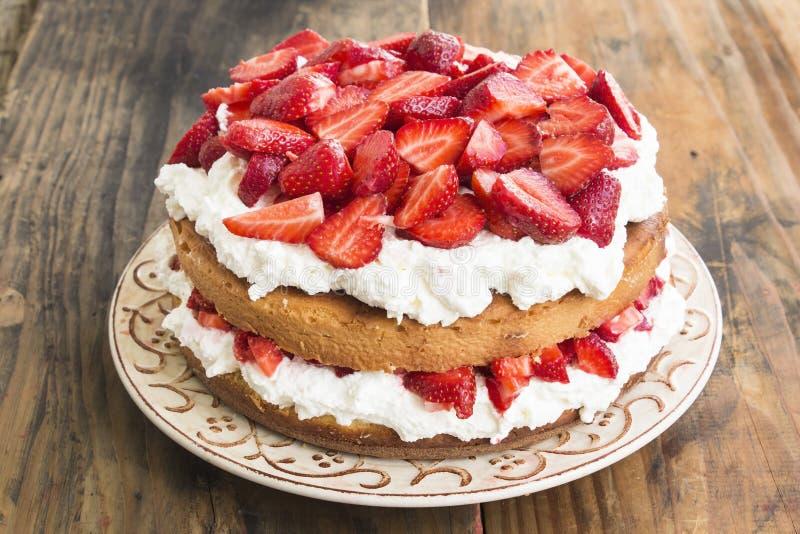 Gâteau au fromage de fraises photo stock