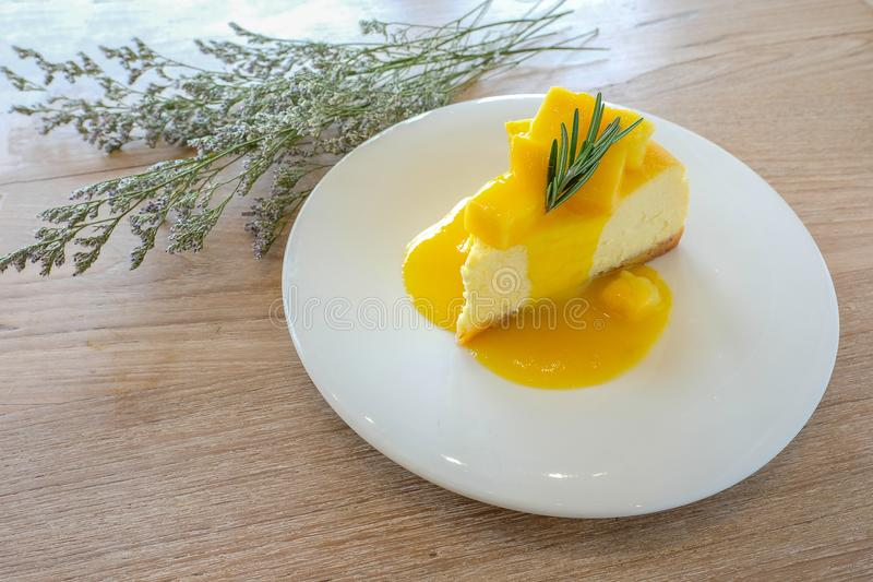 Gâteau au fromage de mangue photos stock