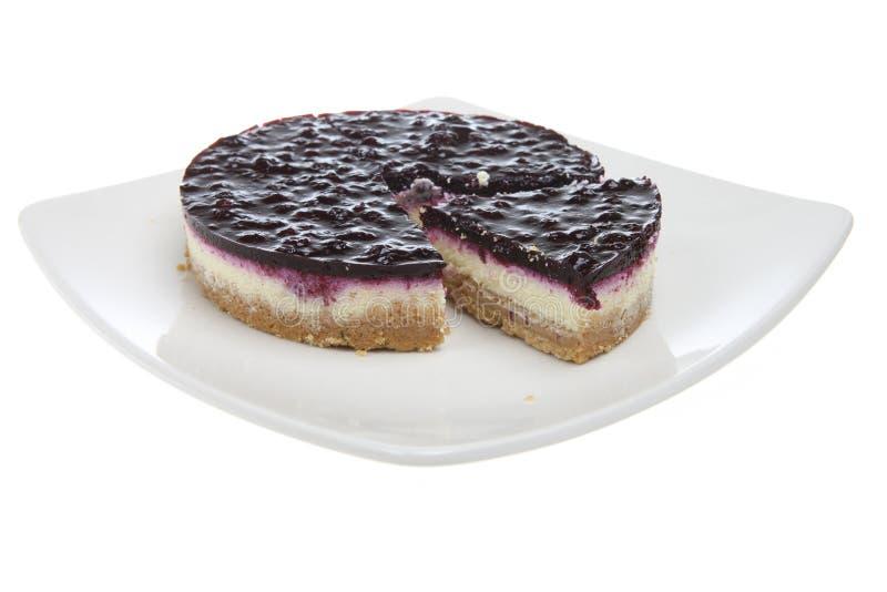 Gâteau Au Fromage De Myrtille Photographie stock libre de droits