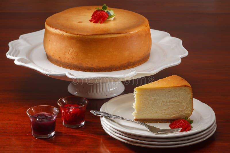 Gâteau au fromage de New York photo libre de droits