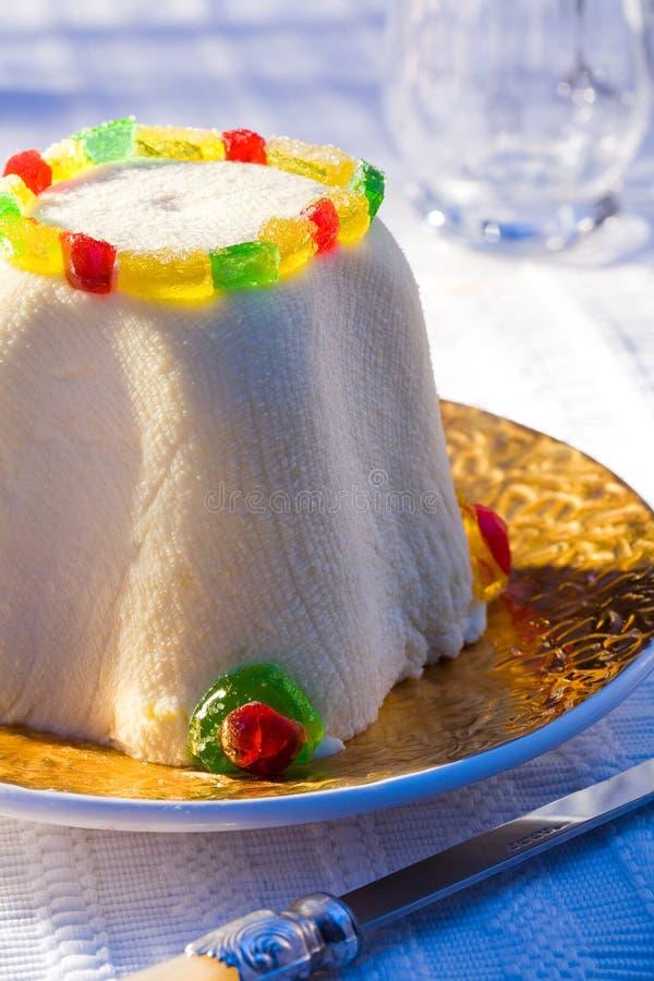 Gâteau au fromage de Pâques image libre de droits