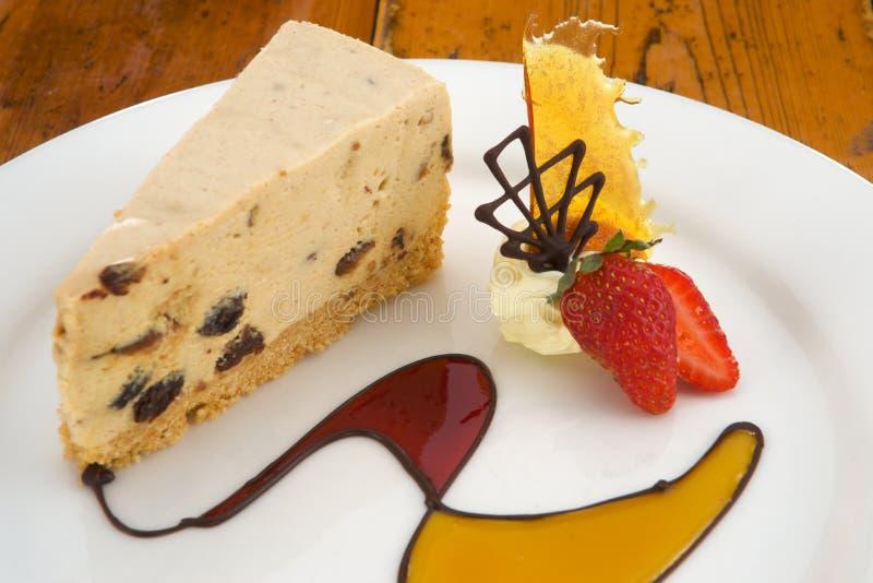 Gâteau au fromage doux de datte image stock